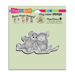 Stampendous Cling Mounted Rubber Stamps - House Mouse Designs - Teddy Friend Rubber Stamp