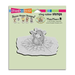 Stampendous Cling Mounted Rubber Stamps - House Mouse Designs - Petal Paddler Rubber Stamp
