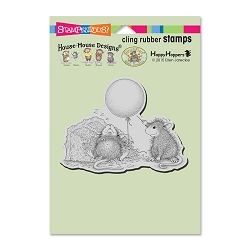 Stampendous Cling Mounted Rubber Stamps - House Mouse Designs - Birthday Mischief Rubber Stamp