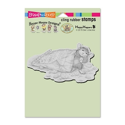 Stampendous Cling Mounted Rubber Stamps - House Mouse Designs - Cheese Puffs Rubber Stamp