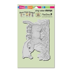 Stampendous Cling Mounted Rubber Stamps - House Mouse Designs - Dog Ride Rubber Stamp