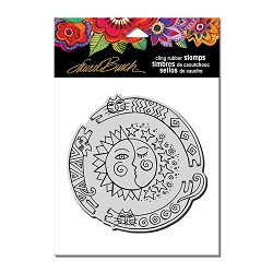 Stampendous - Laurel Burch - Cling Sun Chase Rubber Stamp