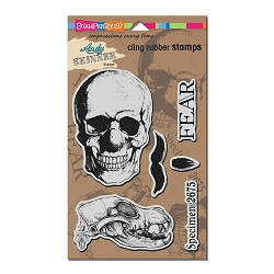 Stampendous - Cling Mounted Rubber Stamp - Andy Skinner Skuldoggery Stamp Set