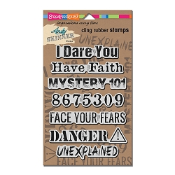 Stampendous - Cling Mounted Rubber Stamp - Andy Skinner Unexplained Stamp Set