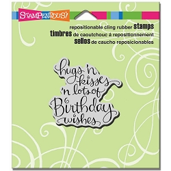 Stampendous Cling Mounted Rubber Stamps - Hugs Kisses Wishes