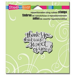 Stampendous Cling Mounted Rubber Stamps - Sweet Of You