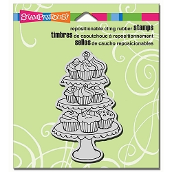 Stampendous Cling Mounted Rubber Stamps - Cupcake Tiers
