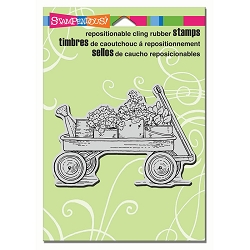 Stampendous Cling Mounted Rubber Stamps - Garden Wagon