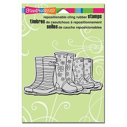 Stampendous Cling Mounted Rubber Stamps - Puddle Boots