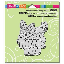 Stampendous Cling Mounted Rubber Stamps - Chunky Thank You