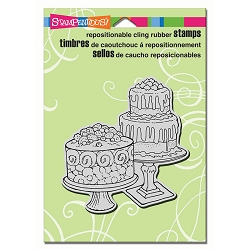Stampendous Cling Mounted Rubber Stamps - Dessert Display
