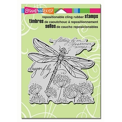 Stampendous Cling Mounted Rubber Stamps - Dragonfly Wings