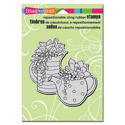 Stampendous Cling Mounted Rubber Stamps - Potted Succulents