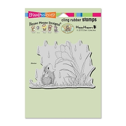 Stampendous Cling Mounted Rubber Stamps - House Mouse Designs - Crocus Droplet