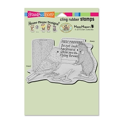 Stampendous Cling Mounted Rubber Stamps - House Mouse Designs - New Proverb