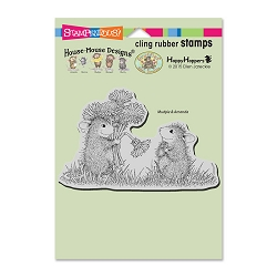 Stampendous Cling Mounted Rubber Stamps - House Mouse Designs - Dandelion Bouquet