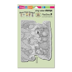 Stampendous Cling Mounted Rubber Stamps - House Mouse Designs - Strawberry Treat