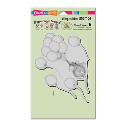 Stampendous Cling Mounted Rubber Stamps - House Mouse Designs - Helium Ride
