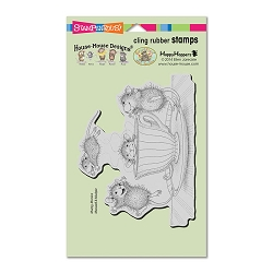 Stampendous Cling Mounted Rubber Stamps - House Mouse Designs - Coffee Crazy
