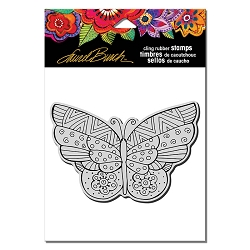 Stampendous - Laurel Burch - Cling Rubber Stamp Flutterbye