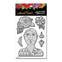 Stampendous - Laurel Burch Cling Blossoming Woman Stamp Set
