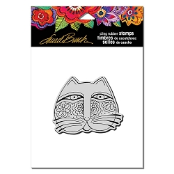 Stampendous - Laurel Burch - Cling Rubber Stamp Feline Face