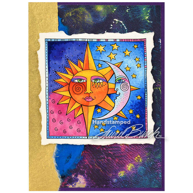 Stampendous Laurel Burch Cling Rubber Stamp Celestial