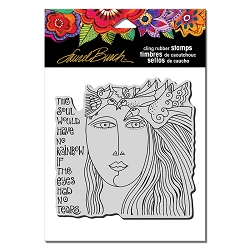 Stampendous - Laurel Burch - Cling Rubber Stamp Soul Tears