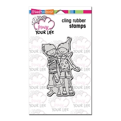 Stampendous Cling Mounted Rubber Stamps - Pink Your Life Whisper Friendship