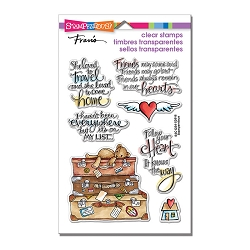 Stampendous Perfectly Clear Stamp - Travel Home