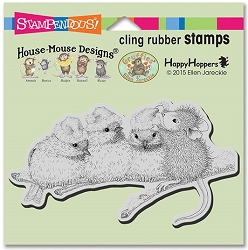 Stampendous Cling Mounted Rubber Stamps - House Mouse Designs - Santa Hat Birds Rubber Stamp