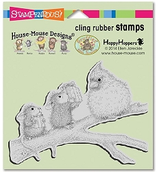 Stampendous Cling Mounted Rubber Stamps - House Mouse Designs - Birdie Gifts Rubber Stamp