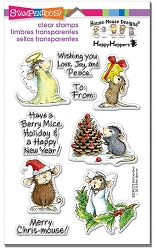 Stampendous Perfectly Clear Stamp - House Mouse Merry Mice
