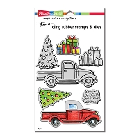 Stampendous - Truck Tidings Cling Stamps & Die Set