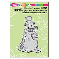 Stampendous Cling Mounted Rubber Stamps - Snowmans Tree
