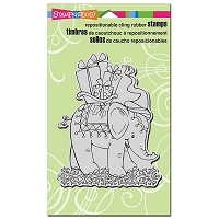 Stampendous Cling Mounted Rubber Stamps - Pachyderm Presents