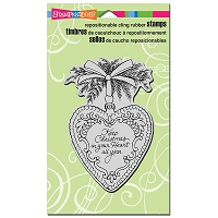 Stampendous Cling Mounted Rubber Stamps - Christmas Heart