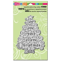 Stampendous Cling Mounted Rubber Stamps - Joy Tree