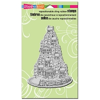Stampendous Cling Mounted Rubber Stamps - Hill Top Train