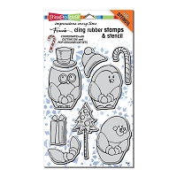 Stampendous Cling Mounted Rubber Stamps - Winter Friends