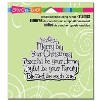 Stampendous Cling Mounted Rubber Stamps - Merry Be