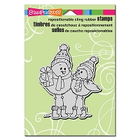 Stampendous Cling Mounted Rubber Stamps - Spindly Birds