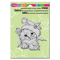 Stampendous Cling Mounted Rubber Stamps - Wonderous Kitten