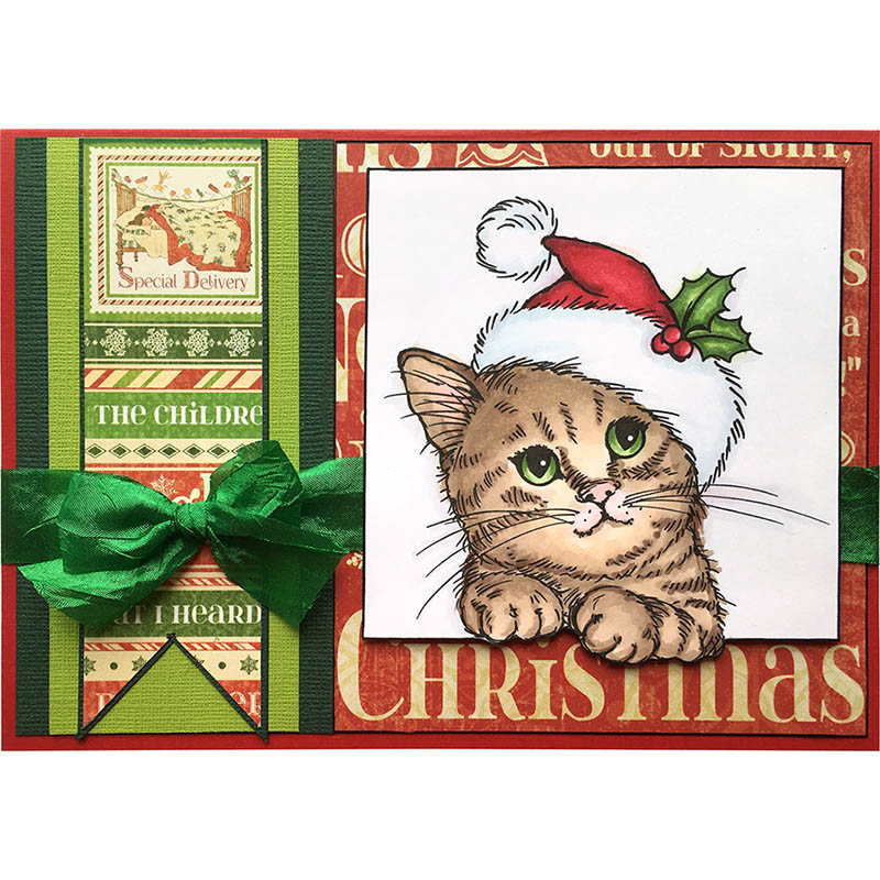 Stampendous Cling Mounted Rubber Stamps Wonderous Kitten
