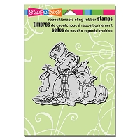 Stampendous Cling Mounted Rubber Stamps - Fox Friend