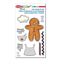 Stampendous - Gingerbread Baker Clear Stamps & Die Set