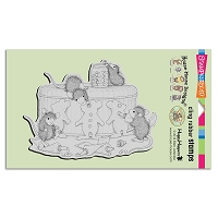 Stampendous Cling Mounted Rubber Stamps - House Mouse Designs - Gingerbread Mice