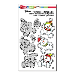 Stampendous - Snowman Trio Cling Stamps and Dies Set