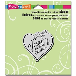 Stampendous - Cling Mounted Rubber Stamp - Heart Of Christmas