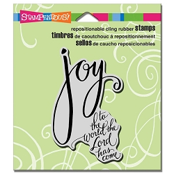 Stampendous - Cling Mounted Rubber Stamp - Joy Has Come